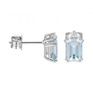 Orecchini Acquamarina e Diamanti