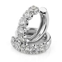 Orecchini Cerchio Diamanti ct.0,37