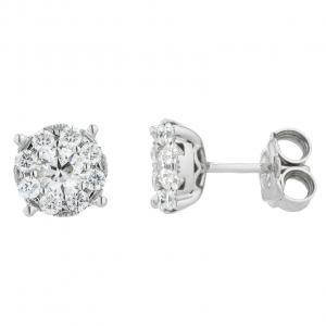 Orecchini Oro 18kt Diamanti ct.0,70