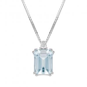 Collana  Acquamarina e Diamanti
