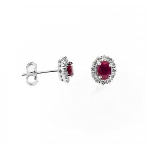 Orecchini Rubino e Diamanti