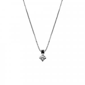 Collana Punto Luce Diamante ct 0,05