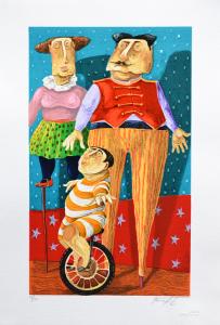 Procopio Pino Trampoli Serigrafia Formato cm 50x35