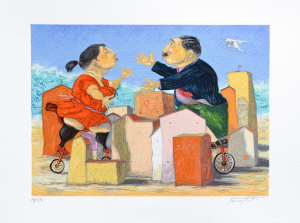 Procopio Pino Città d'Amore Serigrafia Formato cm 35x50
