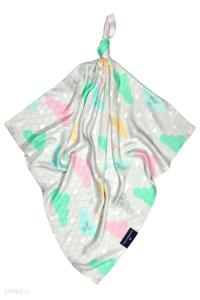 Telo multiuso - mussola in bamboo 100 % - 120x120 - Pioggerella - Multicolore