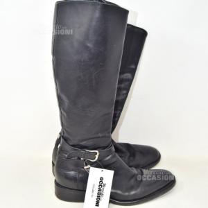 Boots Woman Black In True Leather Geoxsize 38