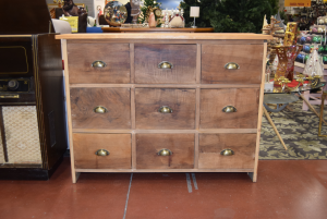 Cabinet In Legmo Hand Made From 9 Cassettoni