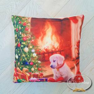 Fodere cuscino Labrador con albero
