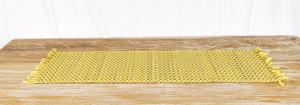 Stuoia Palma gialla + cotone  35 x 100 cm