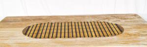 Stuoia Palma Bambù + Lidi chiaro + scuro  35 x 100 cm