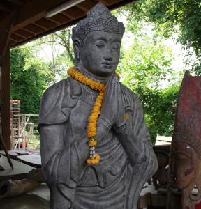 Statua Buddha Namaskara mudra H 160 cm in resina