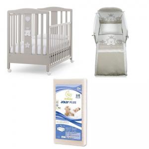 Offerta Italbaby Baby Re Choco Tortora composta da: letto, materasso, piumino