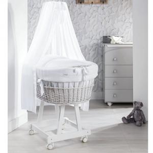 Culla Miss Picci colore bianco completa di materasso, piumetto e velo