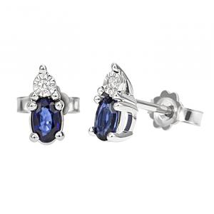 Orecchini Bliss Stefanie zaffiri e diamanti