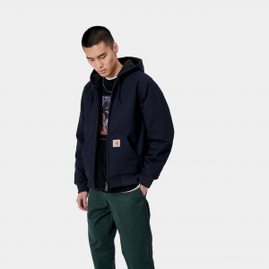 Giacca Carhartt Active Jacket Pile Blue
