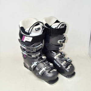 Ski Boots Technical Gray And Purple N°.24 24.5 285 Mm