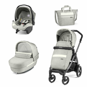Trio Book 51 elite luxe pure con borsa Peg perego