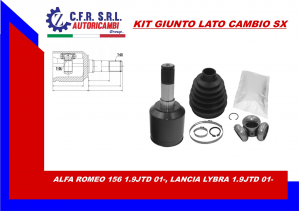 KIT GIUNTO INTERNO LATO CAMBIO ALFA ROMEO 156 1.9JTD,LANCIA LYBRA 1.9JTD