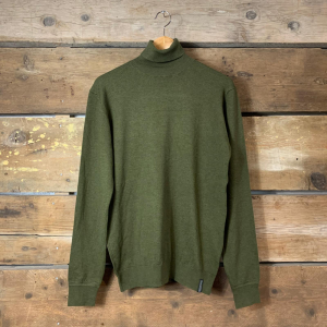 Maglione Scotch & Soda a Collo Alto in Viscosa Verde Militare
