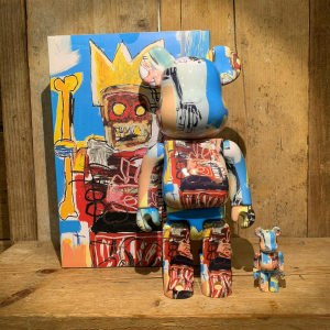 Be@rbrick Medicom Toy Jean-Michel Basquiat 100% e 400%