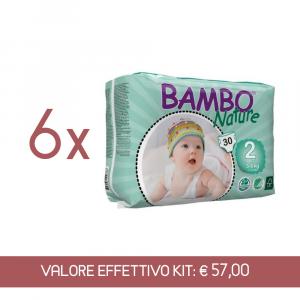 Kit Scorta Pannolini sottili ultrassorbenti Mini 3 - 6 kg - 180 pannolini