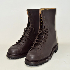 Boots Combact In True Leather Brown Brand Davos N°.43 New