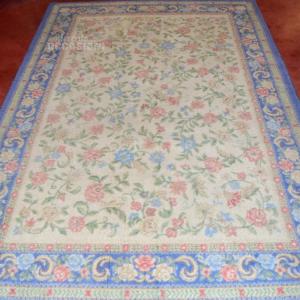 Carpet Bordo Light Blue And Internal Beige 225x160 Cm