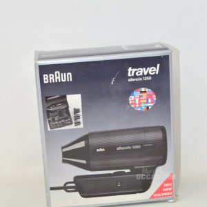 Hairdryer Black Braun Travel Silencio 1250