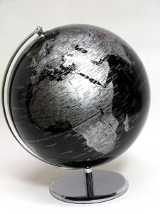 Mappamondo design cm30 nero