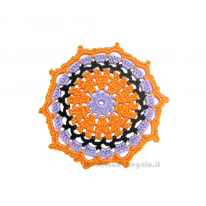 4 pz - Sottobicchiere per Halloween ad uncinetto 11 cm - Handmade in Italy