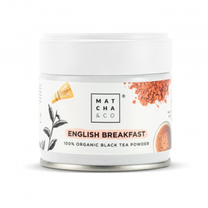 Matcha & Co English Breakfast Organic Black Tea Powder 30g
