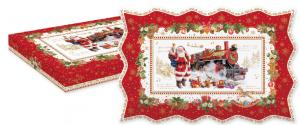 EASY LIFE PIATTO DA PORTATA CM. 35X23 IN PORCELLANA IN COLOR BOX LINEA CHRISTMAS MEMORIES R1004#CHME