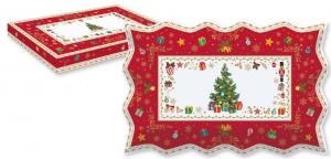 EASY LIFE PIATTO DA PORTATA CM. 35X23 IN PORCELLANA IN COLOR BOX LINEA CHRISTMAS ORNAMENTS R1004#CHOR