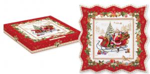 EASY LIFE PIATTO DA PORTATA CM. 30X30 IN PORCELLANA IN COLOR BOX LINEA CHRISTMAS MEMORIES R1005#CHME
