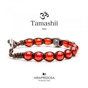 Bracciale Tamashii Ruota Preghiera Agata Rosso Passione BHS1100-124