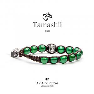 Bracciale Tamashii Ruota Preghiera Agata Verde BHS1100-12