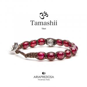 Bracciale Tamashii Ruota Preghiera Agata Rossa BHS1100-34