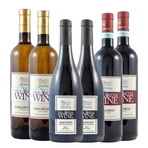 Villarena Wine Combo Gragnano, Coda di Volpe & Aglianico