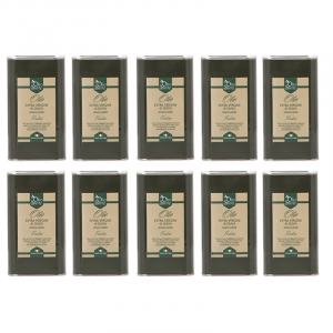 10 lattine da 1 litro OLIO EVO FRANTOIO 2020/21 Olio extravergine di oliva Italiano cultivar Frantoio Sante in latta da 1 Litro -