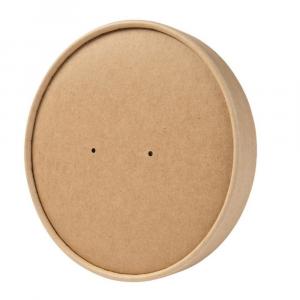 Coperchi in cartoncino avana per cibi caldi per ciotole 1000ml