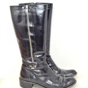 Boots Woman Black Paint Norma J Baker N°.39 Model 2007