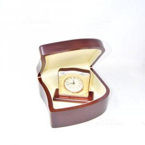 Wooden Box And Watch With Edge Silver Depicting Calle