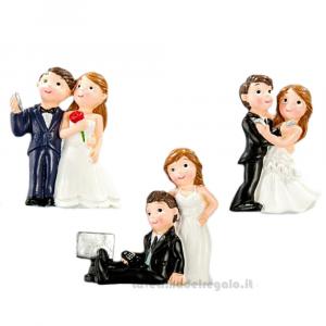Magnete Sposi Selfie in resina 5 cm - Bomboniera matrimonio