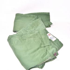 Trousers Man Green Franklin Marshall Original Size 30