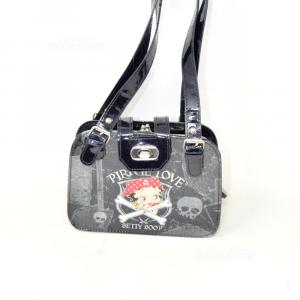 Handbag In Patent Leather Pirate Love Betty Boop 20x14x5 Cm