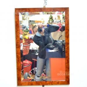 Specchio Con Cornice In Radica 50 X 73 Cm