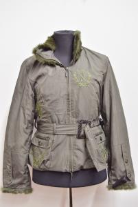 Giubbotto Donna Verde Militare Dolce & Gabbana Originale Tg L