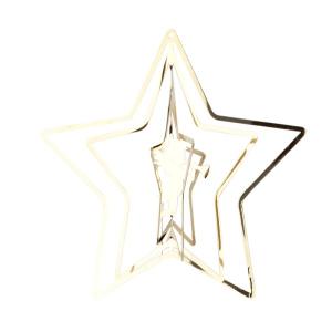 Decorazione 3d stella con angelo in metallo Hervit