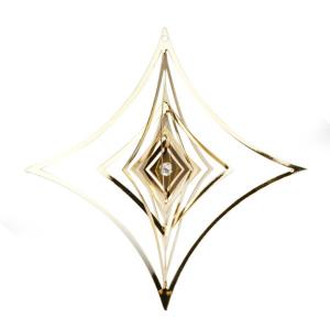 Decorazione 3d rombo in metallo Hervit