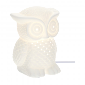 lampada civetta porcellana traforata Hervit